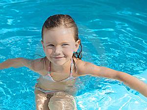Girl In The Swimming Pool Stock Photography - Image: 9343232