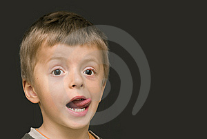 Boy Sticking Out His Tongue Royalty Free Stock Photography - Image: 9343857