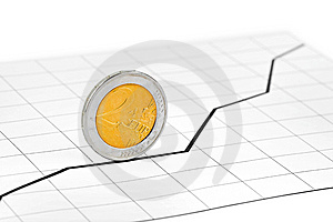 Rolling Coin And Diagram Royalty Free Stock Images - Image: 9345249