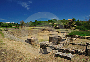 Archaeological Site Of Morgantina Stock Image - Image: 9345411