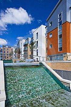 Modern Development With Water Feature Stock Photography - Image: 9346452