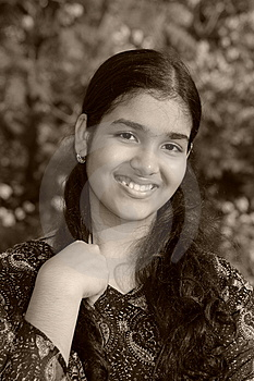 Magical Innocent Smile Royalty Free Stock Images - Image: 9346889