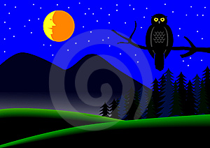 Night Landscape Stock Image - Image: 9347331