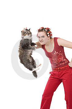 Housewife Is Holding Soil Cat. Stock Photos - Image: 9347543