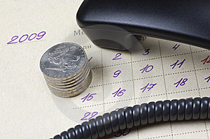 Business Concept: Time, Money, Communication Stock Photos - Image: 9347803