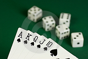 Royal Flush Spades Royalty Free Stock Photography - Image: 9348517