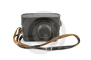 Vintage Camera In Carry-Case Stock Images - Image: 9348744