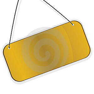 Gold Labes Over White Background. Vector Illustrat Royalty Free Stock Images - Image: 9348989