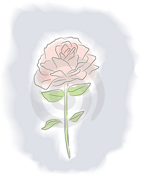 Watercolor Rose Stock Images - Image: 9349224