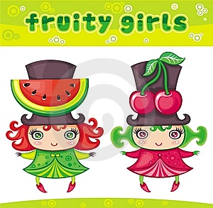 Fruity Girls Series 1 Royalty Free Stock Photography - Image: 9349387