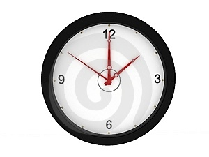 Front View Of Wall Clock Royalty Free Stock Photos - Image: 9350098