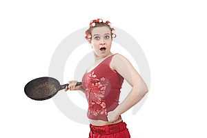 Young Girl With An Angry Expression. Stock Photo - Image: 9350230
