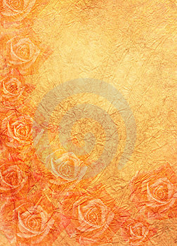 Roses In Orange Stock Image - Image: 9350331