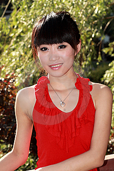 Asian Girl Outdoors Royalty Free Stock Photo - Image: 9350515