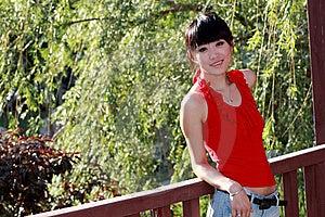 Asian Girl Outdoors. Stock Photo - Image: 9350640