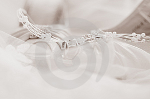 Wedding Rings And Wedding Shoes Royalty Free Stock Photos - Image: 9351228