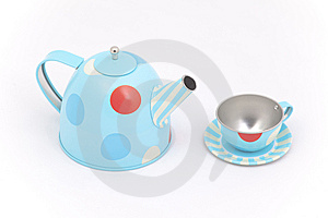 Child's Toy Teapot And Cup Royalty Free Stock Image - Image: 9351926