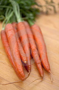 Bunches Of Fresh Carrots For Sale At A Market Royalty Free Stock Image - Image: 9353056