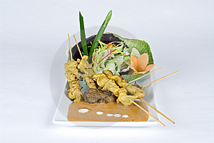 Beef And Pork Skewers Royalty Free Stock Images - Image: 9354689