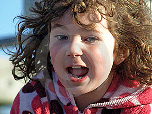 Excited Little Girl. Royalty Free Stock Photo - Image: 9355515