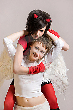 Angel And Devil Stock Images - Image: 9356234