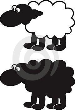 Comic Sheep Royalty Free Stock Image - Image: 9357466
