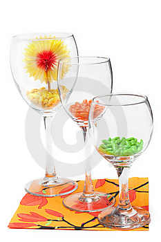 Three Glasses With Colour Sweetmeat Stock Photography - Image: 9358392