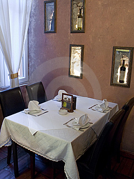Restaurant Table Stock Images - Image: 9358614
