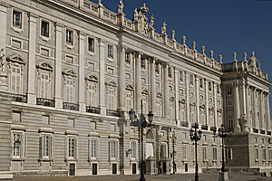 Real Palace In Madrid Royalty Free Stock Image - Image: 9358616
