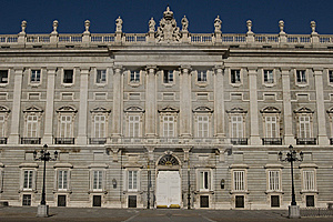Real Palace In Madrid Royalty Free Stock Photography - Image: 9358637