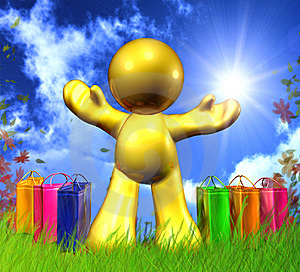 Happy Shopping Icon Royalty Free Stock Image - Image: 9359216