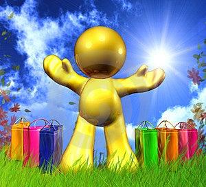 Happy Shopping Icon Royalty Free Stock Image - Image: 9359216