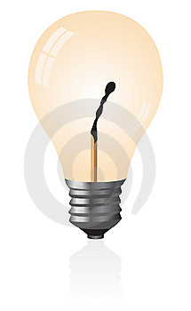 Light Bulb With A Match. Royalty Free Stock Photography - Image: 9361157