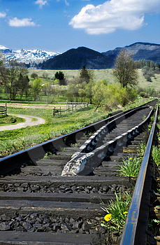Country Railway Royalty Free Stock Photography - Image: 9361877
