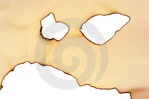 Sheet Of Paper With The Scorched Edges Royalty Free Stock Photography - Image: 9363857