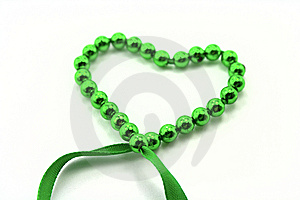 Heart From Beads Stock Images - Image: 9366454