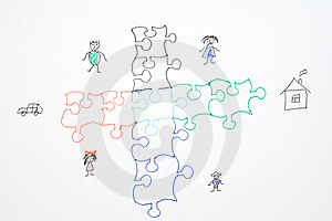 Puzzle, Home, Keys Stock Photos - Image: 9367053