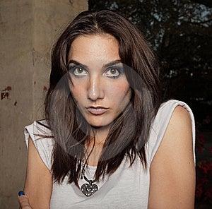 Headshot Of A Beautiful Young Woman Stock Image - Image: 9367091