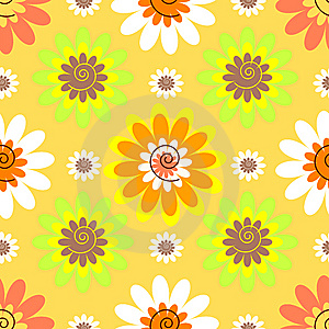 Abstract seamless floral pastel pattern Stock Photos