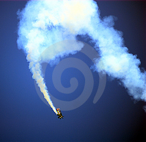 Stunt Pilot Plane Royalty Free Stock Photos - Image: 9371428