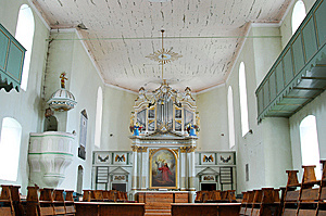 Inside Of Bod Church (Romania) Stock Photo - Image: 9375010