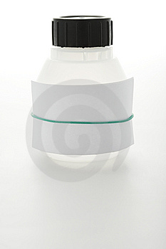White Can With Sheet Of Paper Stock Photography - Image: 9377462