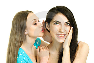 Two Gossiping Girls Royalty Free Stock Photography - Image: 9379547
