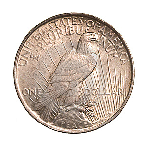 Antique Silver Dollar Isolated Stock Photo - Image: 9381860