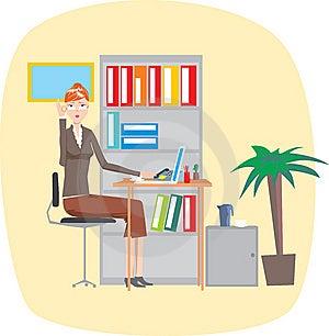 Secretary Stock Image - Image: 9382791