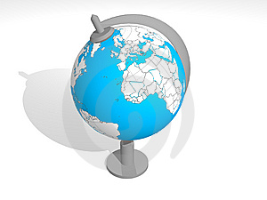 3D Blue Globe Royalty Free Stock Images - Image: 9384429