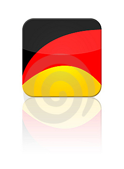 Germany Flag Button Royalty Free Stock Photo - Image: 9385715