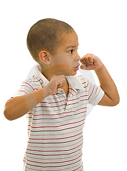 Boy Posing As A Boxer Stock Photos - Image: 9386753