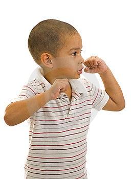 Boy Posing As A Boxer Stock Photos - Image: 9386753