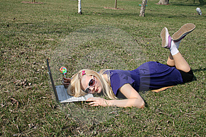 Girl Fell Asleep Royalty Free Stock Photos - Image: 9388298